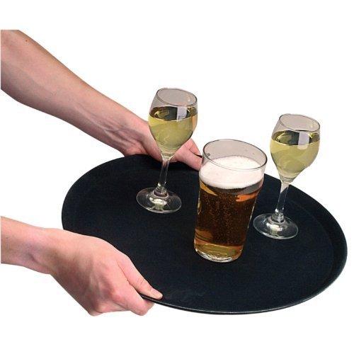 Amazon.com: Round Anti-Slip Tray - Plastic. 356mm (14) diameter. by Kristallon: Kitchen & Dining
