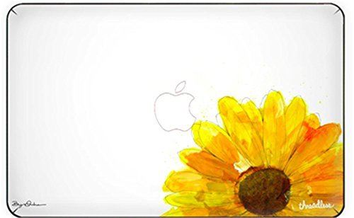 Customized Creative Cartoon Series Sunflower Special Design Removable Vinyl Decal Top Front-cover Sticker Skin for Macbook Pro 13'' with Retina Display (Model A1425/a1502)