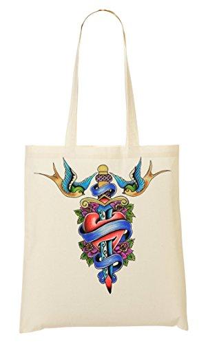 Heart Shopping Birds Dagger Bag Handbag aq10d