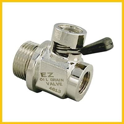 EZ (EZ-110) Silver NPT 3/8-18 Thread Size Oil Drain Valve: Automotive