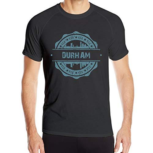 X-JUSEN Men's Durham North Carolina Moisture Wicking Athletic Shirts, Short Sleeve Classic Tech T-Shirt Tee Top, Quick Dry Costumes]()