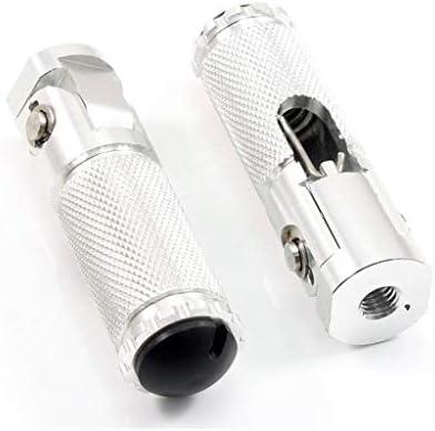 EIN Paar 8MM Motorrad Universal Klappfu/ßrasten Fu/ßrasten Pedale hintenf-----Silber