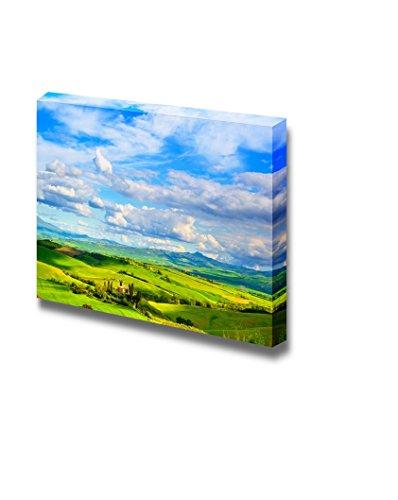 Tuscany Farmland and Cypress Trees Country Landscape Wall Decor ation