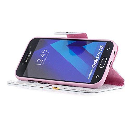 Para Samsung Galaxy A5(2016)SM-A510F funda, (Panda tímido) caja del teléfono de la PU patrón en pintado ,Función de Soporte Billetera con Tapa para Tarjetas soporte para teléfono Nightingale solo