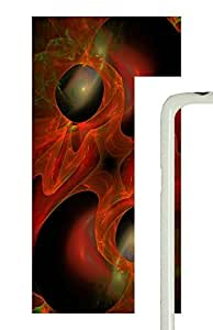 Samsung Galaxy S5 Red Abstract Art Design PC Custom Samsung Galaxy S5 Case Cover White