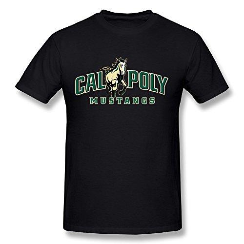 Price comparison product image Men's Trendy T Shirts - Cal Poly Pomona Symbol Black Size L