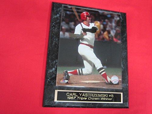 - J & C Baseball Clubhouse Carl Yastrzemski Red Sox Collector Plaque #5 w/8x10 Photo 1975 Season