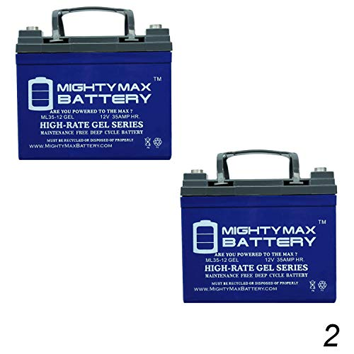 Jet 3 Ultra Power Wheelchair - Mighty Max Battery 12V 35Ah Gel Battery Replacement for Pride Jet 3 Ultra Power - 2 Pack Brand Product