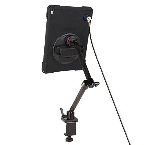 The Joy Factory MagConnect Carbon Fiber Clamp Mount w/ aXtion Bold MPS Water-Resistant Rugged Security Cable Lock Case for iPad Pro 10.5'', Built-In Screen Protector, Hand Strap (MWA703MPS) by The Joy Factory