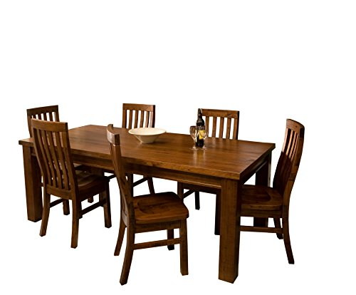 Hillsdale 4321DTBCR7 Outback 7-Piece Dining Set - Sturdy and stylish 7-piece dining Set featuring a warm Chestnut Finish Wood is Mill Cut to create a distressed appearance Comfortably seats 6 in Mission style chairs - kitchen-dining-room-furniture, kitchen-dining-room, dining-sets - 41doRP1FuNL -