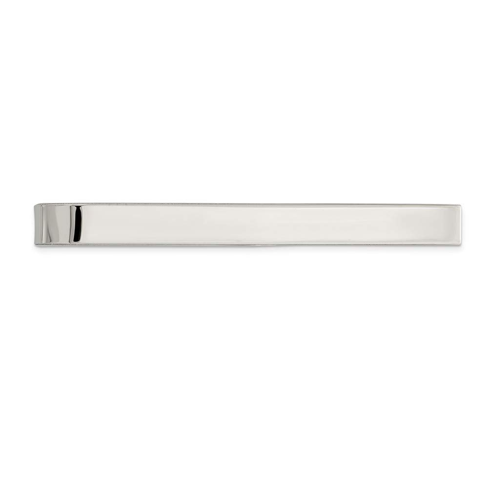 Solid 925 Sterling Silver Tie Bar (5mm x 46mm)