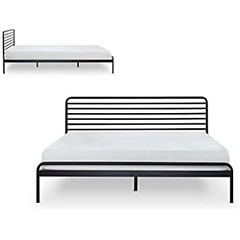 metal platform bed no headboard night therapy frame king karina full black this item sonnet mattress foundation needed wood slat