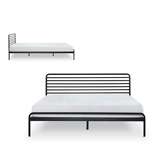 Zinus Tom Metal Platform Bed Frame Mattress Foundation No Box Spring Needed Wood Slat Support Design Award Winner, Queen