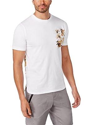 Sean John Graphic Printed Cotton T-Shirt. Layered Floral.