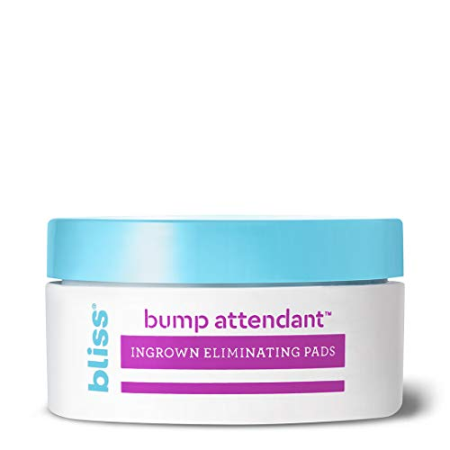 Bliss Bump Attendant, Ingrown Hair Eliminating Pads | Use Between Waxing/Shaving Sessions | Paraben Free, Cruelty Free | 25 Pads from bliss