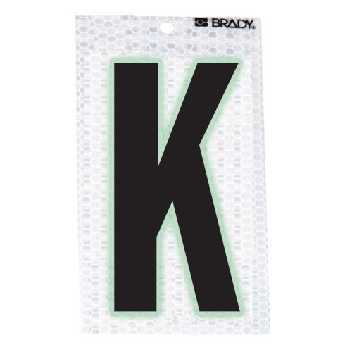 Brady 3010-K, 52279 Glow-In-The-Dark/Ultra Reflective Letter - L, 12 Packs of 10 pcs
