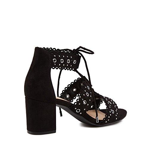 Debenhams Black Suedette 'Sadie' Mid Block Heel Ankle Strap Sandals VYn2W2y