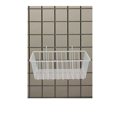 White Powder Coat Finish Mini-grid Basket 12''l X 12''w X 4''d