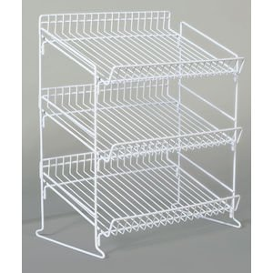 - 3 Tier Display Stand White Metal