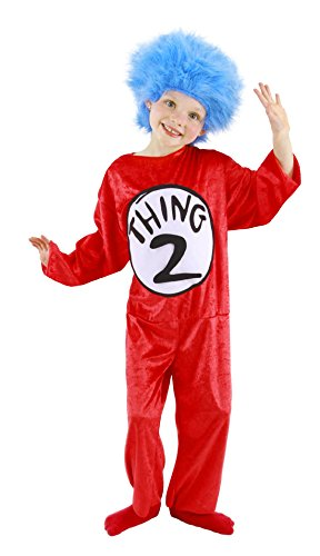 Thing 1 & 2 Costumes (Dr. Seuss Thing 1 and 2 Kid's Costume (XS, 2T-4T) by elope)