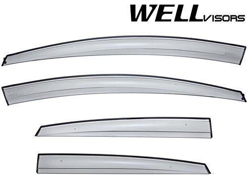 WellVisors For Ford Fiesta Sedan 11-16 Aerodyn Sleek HD Side Window Visor (Ford Fiesta Sedan)