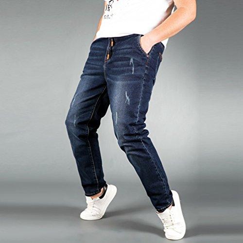 Vita Pantaloni Immagine Denim Grossa Elasticità Fit Come Heheja Uomo Alta Jeans Taglia Straight Sottile pxATY