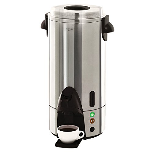 West Bend 54100 100 Cup Stainless Steel Coffee Urn - 1500W (West Bend 100 Cup Coffee Urn compare prices)