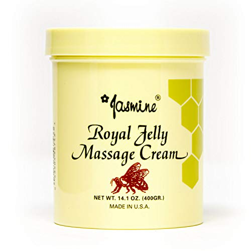 Jasmine Royal Jelly Massage Cream. Keep Your Face and Body Fresh and Soft with Anti-Aging Therapy Cream. Organic Royal Jelly Extract [400 g / 14.1 Oz] (Peking Royal Jelly)