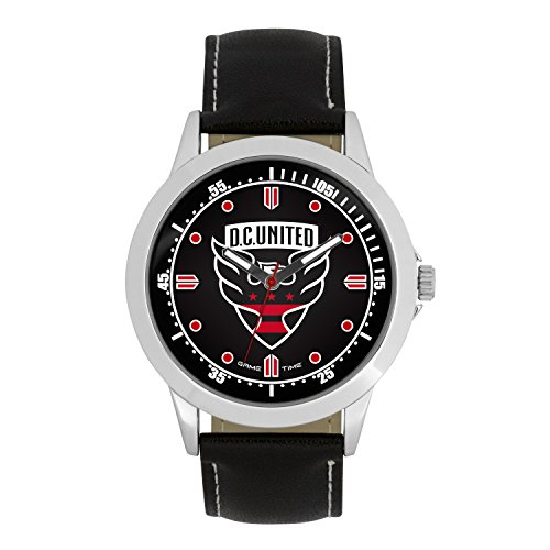 (MLS D.C. United Mens Player Series Wrist Watch, Silver, One Size)