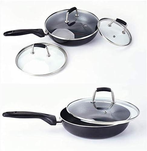 Wtbew-u Pot Couvercle Couvercle Poêle en Acier Inoxydable avec Vapeur Vent, POELES Couvercle Éclabousser Prévient (Size : 16cm)