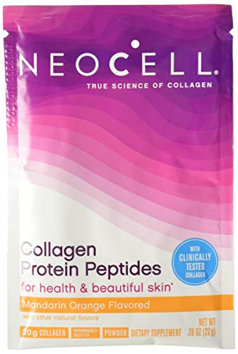 (Neocell Collagen Protein Peptides - for Heathy & Beautiful Skin, Mandarin Orange Flavored - 16 Packets)