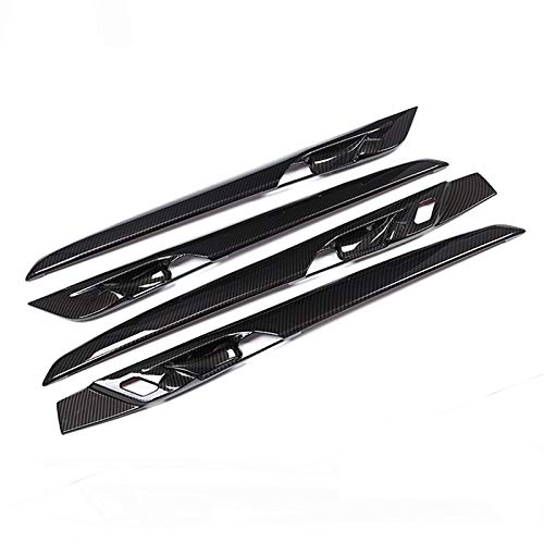 4pcs Carbon fiber For BMW New X1 F48 2016-2018 ABS Plastic Interior Door Decoration Strips Cover Trim For BMW X2 F47 2018 by silutong (Image #4)