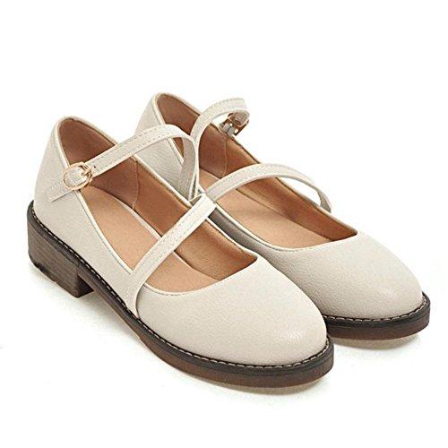 Mary Chaussures white Mocassins RAZAMAZA Femmes Janes RwqBO8H