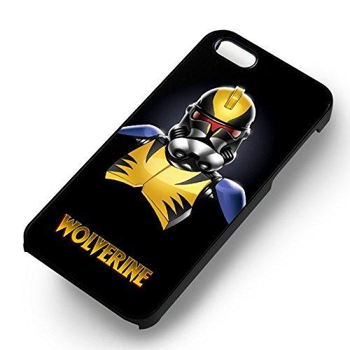 Stormtrooper Wolverine pour Coque Iphone 6 et Coque Iphone 6s Case (Noir Boîtier en plastique dur) V4Q5DX
