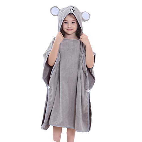 Bebé Albornoz sleepwear algodón Kids Hooded towel poncho Bata Hipoalergenico absorbente fade resistente Plush super suave...