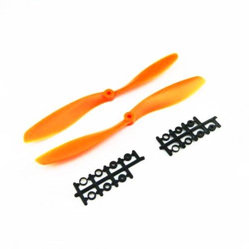 Waltzmart 12x4.5 1245 1245R CW CCW Propeller Counter Rotating Prop Multi Quad Copter Orange