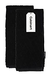 """Cuisinart Bamboo Kitchen Towels - Ultra Soft, Absorbent and Anti-Microbial - Perfect for Drying Hands and Dishes - Premium Bamboo/Cotton Fiber Blend- Set of 2 (16"""" x 26"""")"""