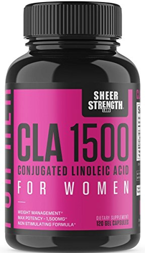 Extra Strength CLA for Women – 1500mg High Potency Weight Loss Supplement – Conjugated Lineolic Acid from Safflower Oil – Non-GMO + Stimulant-Free – 120 Softgels – Sheer Strength Labs Review