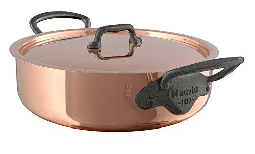 Mauviel M'Heritage M150C 6480.25 Copper Rondeau/Covered Casserole with Lid. 2.9L/3.1 quart 24cm/9.5