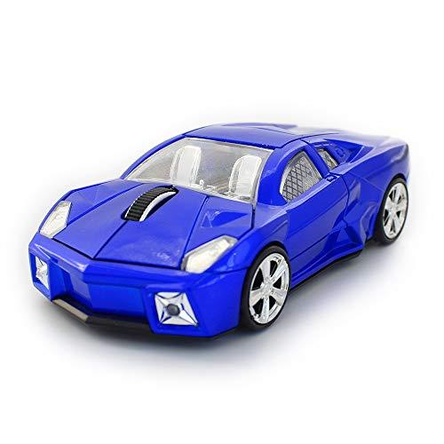 ZSLLO Wireless Car Mouse, Ergonomics 2.4G Cool Sport Race Car Shaped Mouse 3 Buttons Wireless Optical Car Computer Mouse,1600 DPI for PC Laptop Desktop Mac (Red) (Color : Blue) ()