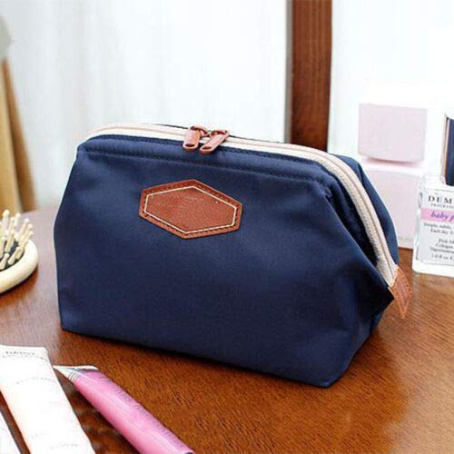 Multifunction Purse Travel Makeup Cosmetic Bag Toiletry Case Pouch Storage Zip (Color - B82 Dark -