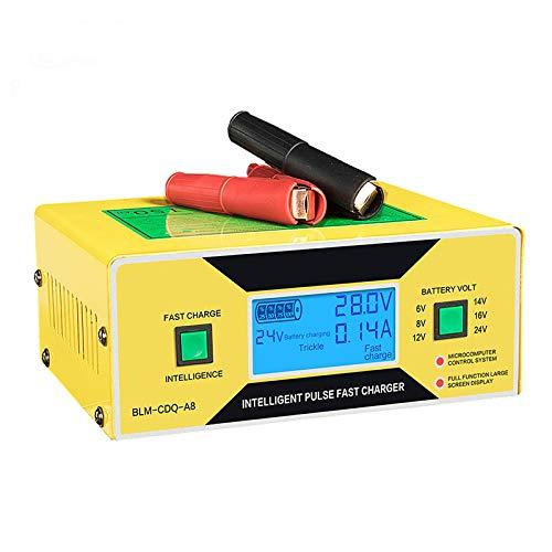 ZUEN LCD 6V 12V 24V Cargador De Batería De Coche Automático ...