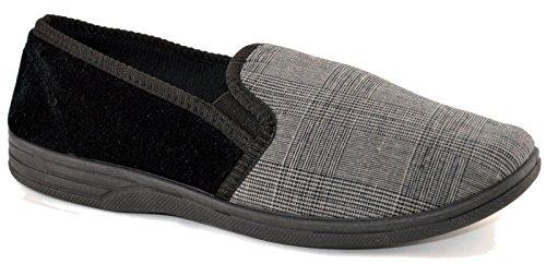 Kjølere Menns Tekstil Loafers Sko Grå