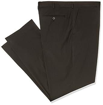 Bracks Men's Black Self Stripe Trouser, Black, 102S