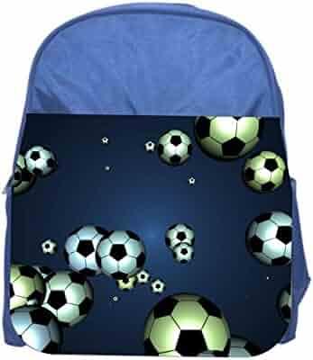 4d40748286 Soccer Balls Girls Boys Blue Preschool Toddler Childrens Backpack   Lunchbox