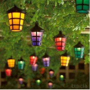 Set of 40 garden indoor outdoor lantern lights mains operated string set of 40 garden indoor outdoor lantern lights mains operated string coloured lights amazon lighting workwithnaturefo