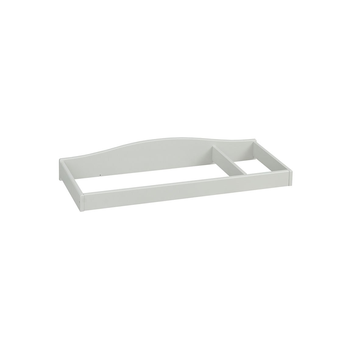 Baby Cache Natural Hardwood Changing Station Table Topper | Montana Collection | Kiln-dried & Hand-Crafted Construction | Glazed White