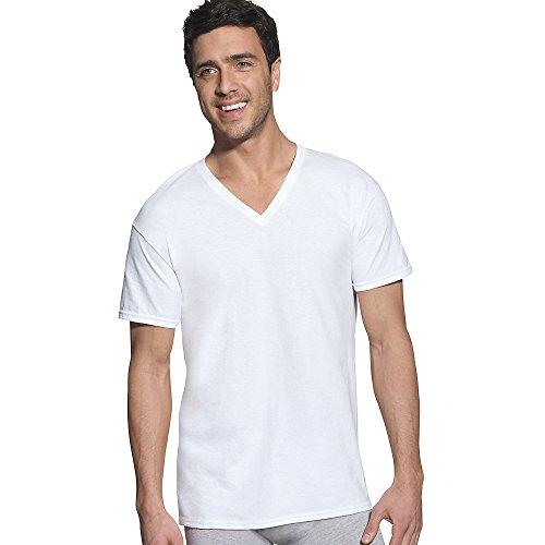 Hanes Ultimate Men's 6 Pack FreshIQ V-Neck Tee, White, X-Large - Ultimate V-neck Tee