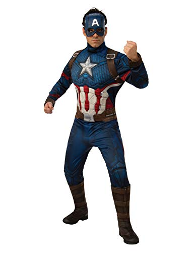 Rubie's Men's Marvel: Avengers Endgame Deluxe Captain America Costume and Mask, Color As Shown, X-Large