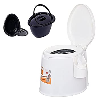 69ddc1b33e1 5L Portable Camp Toilet Flush Travel Camping Hiking Outdoor Indoor Potty  Commode WHITE COLOR  Amazon.co.uk  Sports   Outdoors